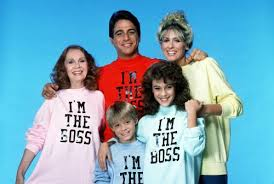 "Who's the boss stars wearing tshirts saying ""I'm the Boss"""