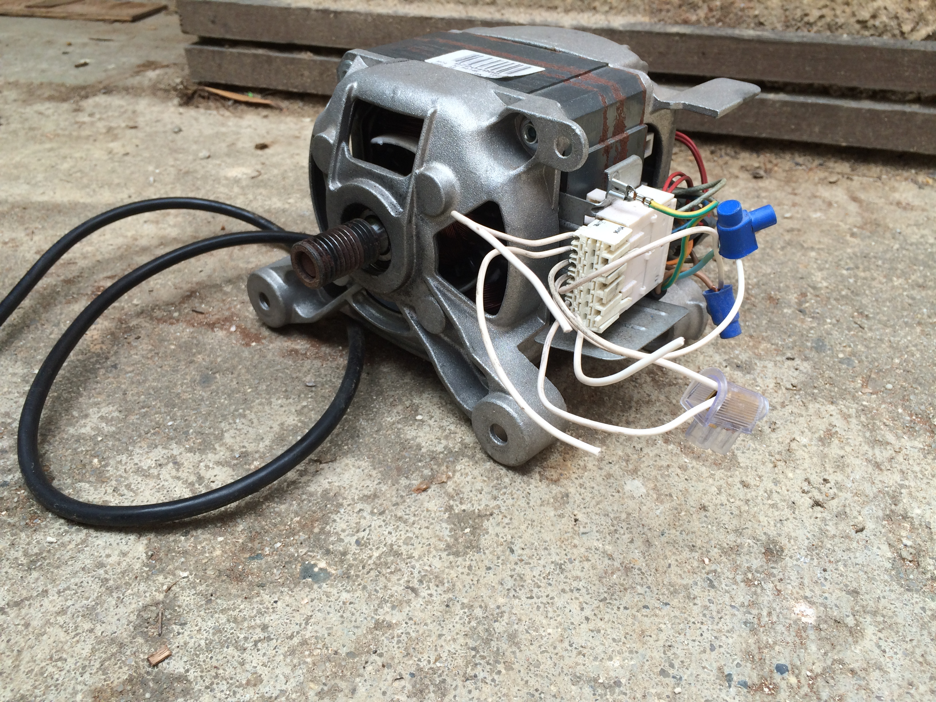 electric motor in the shed